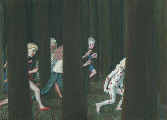 Waliszewska painting children