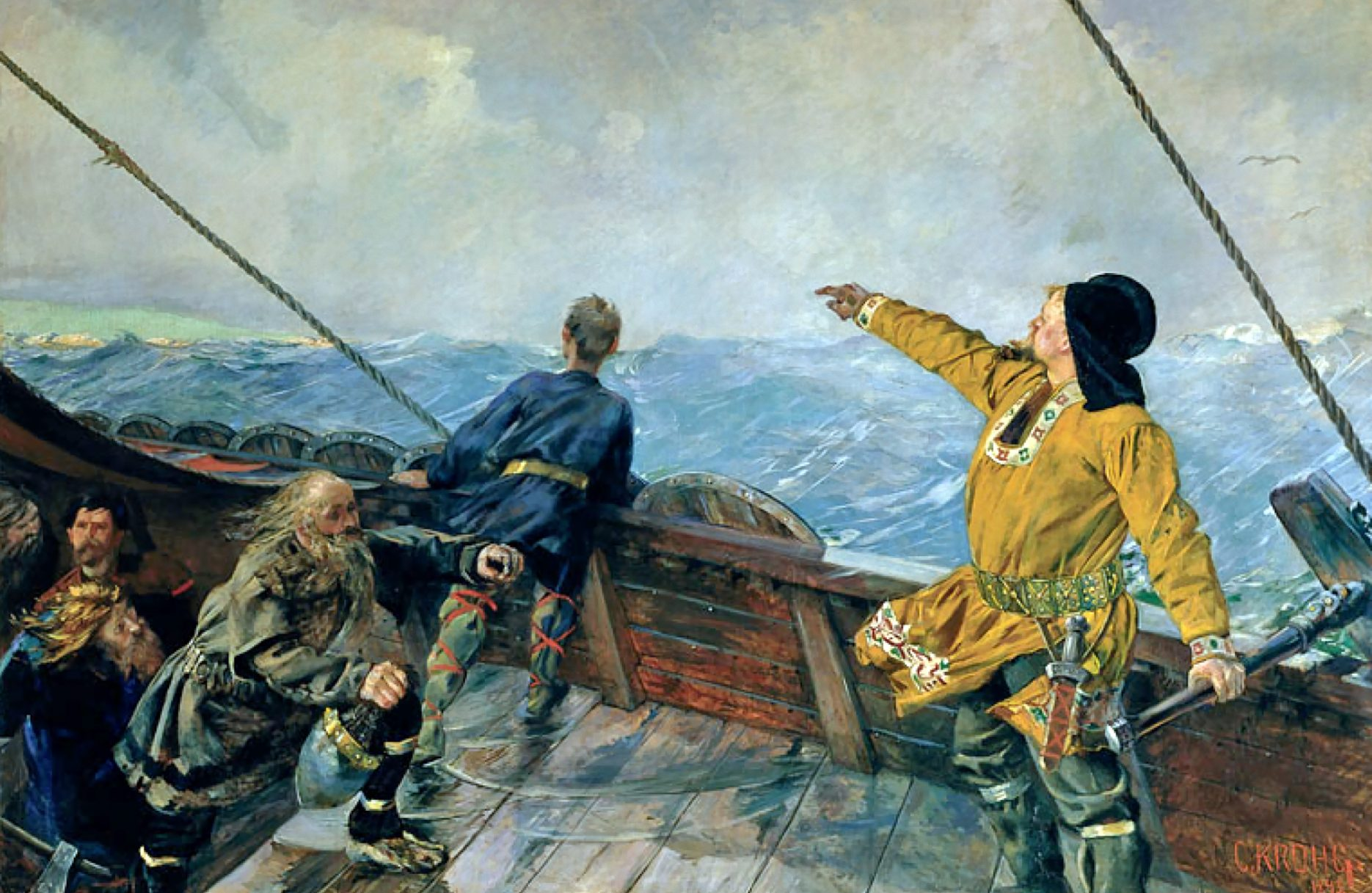 Krohg painting Lief Ericksson