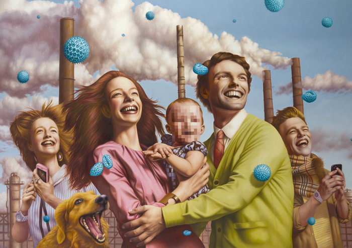 Alex Gross painting spores