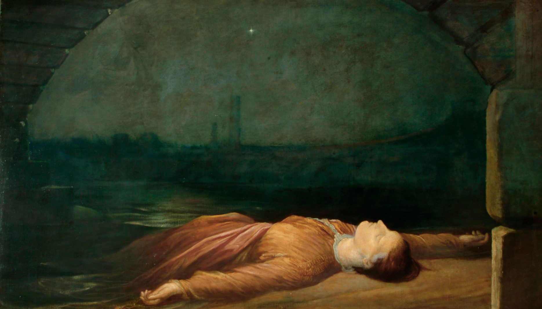 painting drowned woman