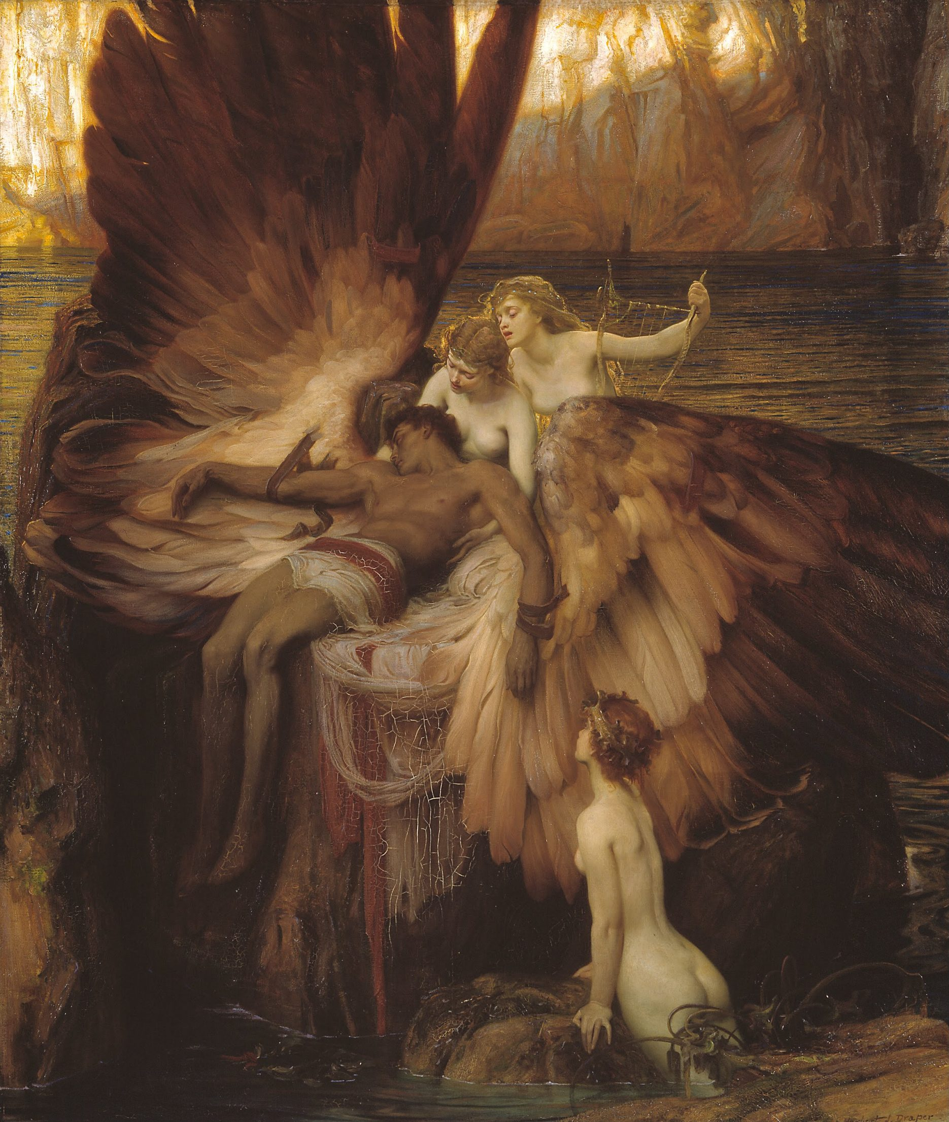 Draper painting Icarus