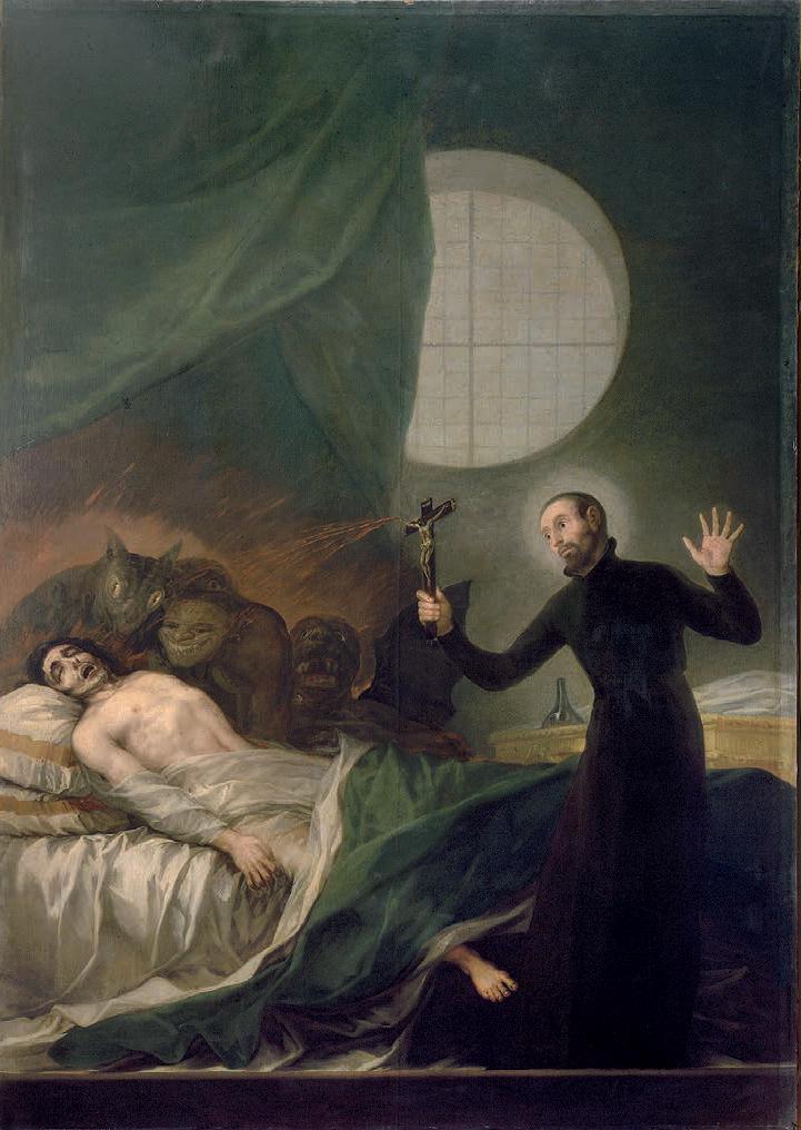 goya painting dying man