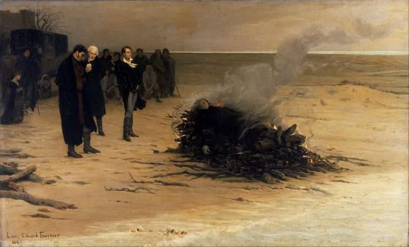 funeral of shelley painting