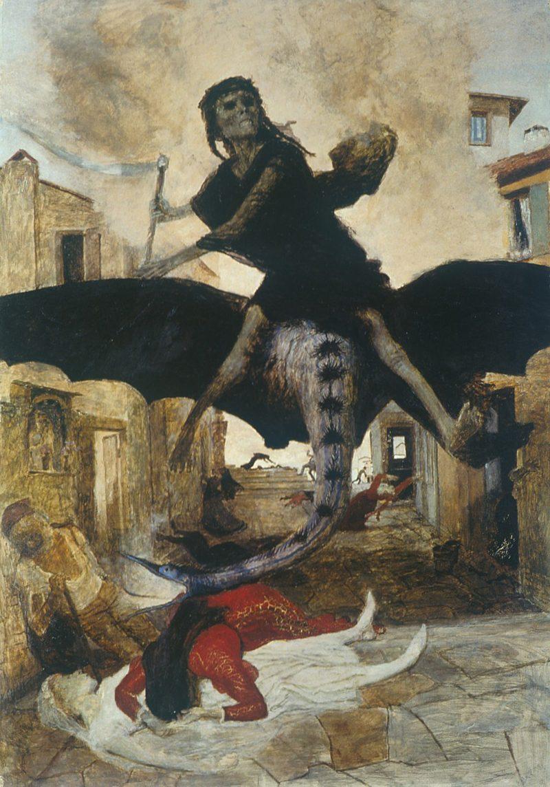 Arnold Bocklin plague painting