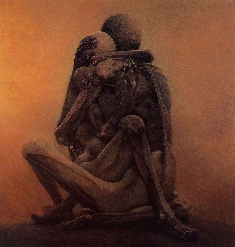 Beksinski painting