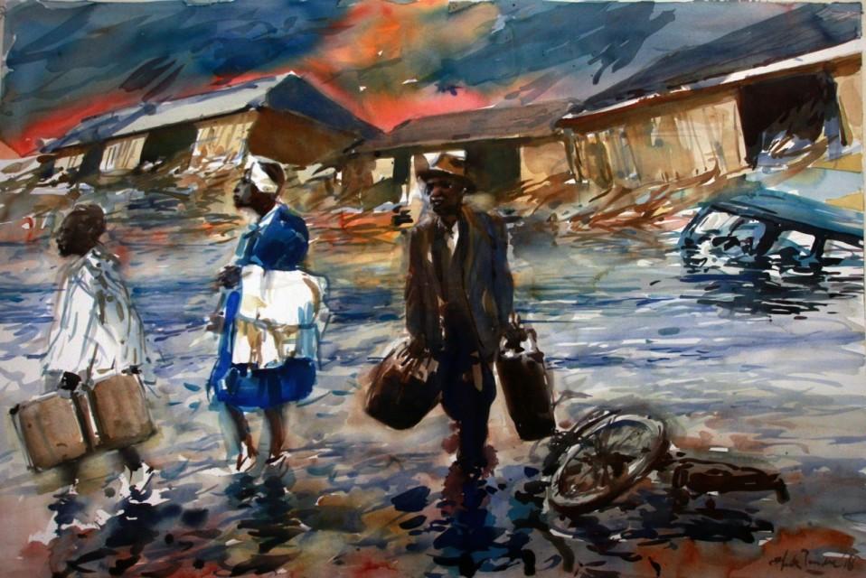 Henk Pander painting
