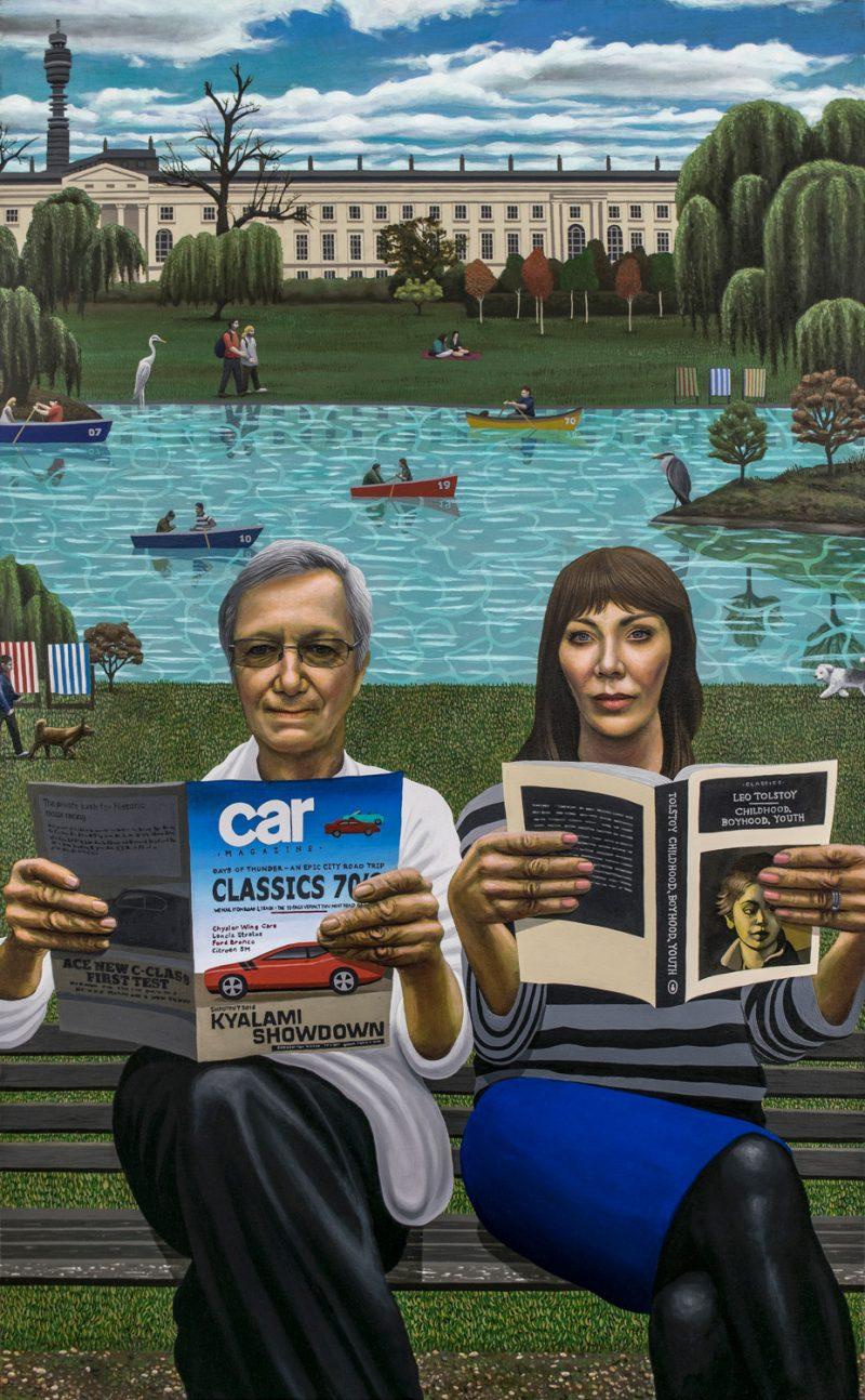 Carl Randall painting