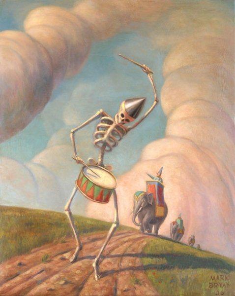 Mark Bryan painting